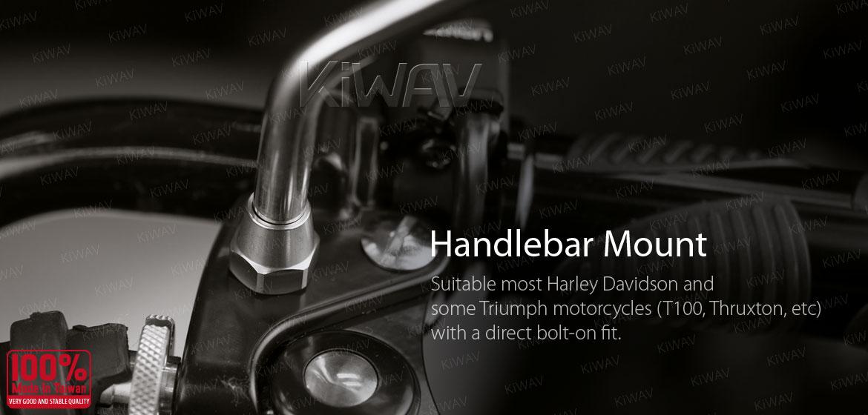 KiWAV stainless retro motorcycle mirrors Stan Round