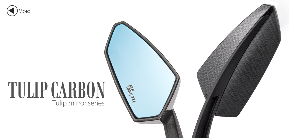 KiWAV Tulip carbon motorcycle mirrors universal fit Magazi