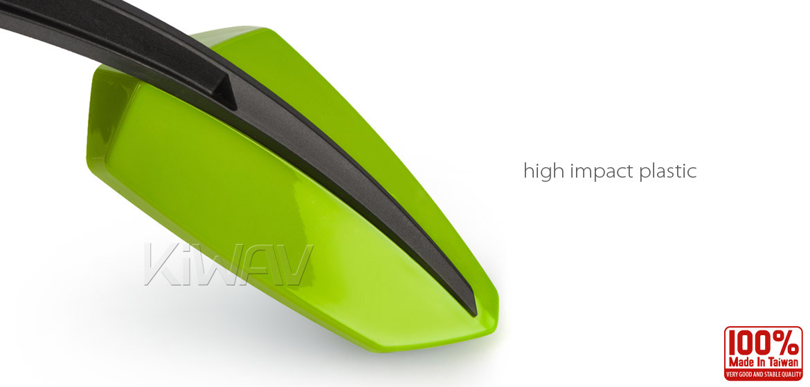 KiWAV Tulip green motorcycle mirrors universal fit Magazi