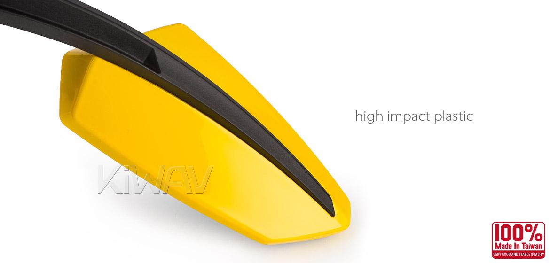 KiWAV Tulip yellow motorcycle mirrors universal fit Magazi
