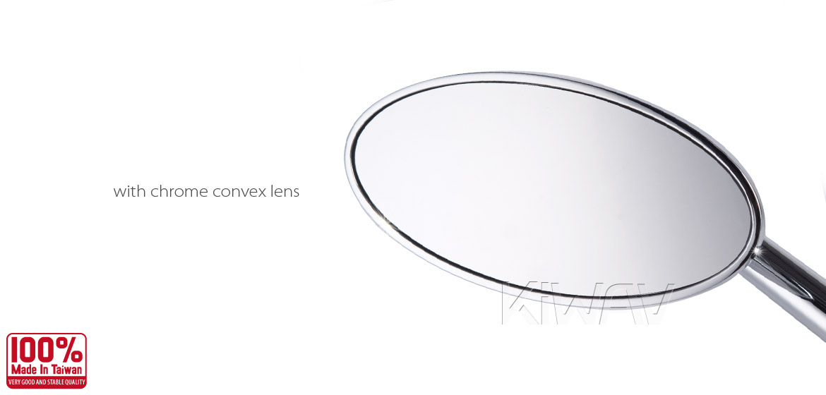 KiWAV motorcycle mirrors Ultra chrome 10mm universal Magazi