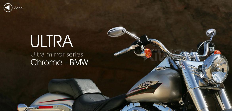 KiWAV motorcycle mirrors Ultra chrome for BMW