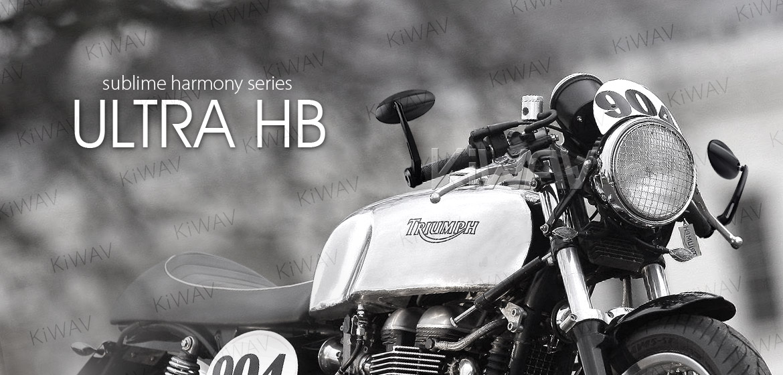 KiWAV Ultra black motorcycle bar end mirrors bmw