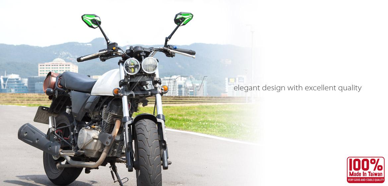 KiWAV ViperII motorcycle mirrors