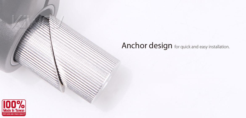 KiWAV bar end mirror mounting hardware for 1 inch handlebar with ID 20~24mm
