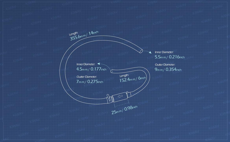 KiWAV Measurement graph of motorcycle hydraulic brake clutch bleeder