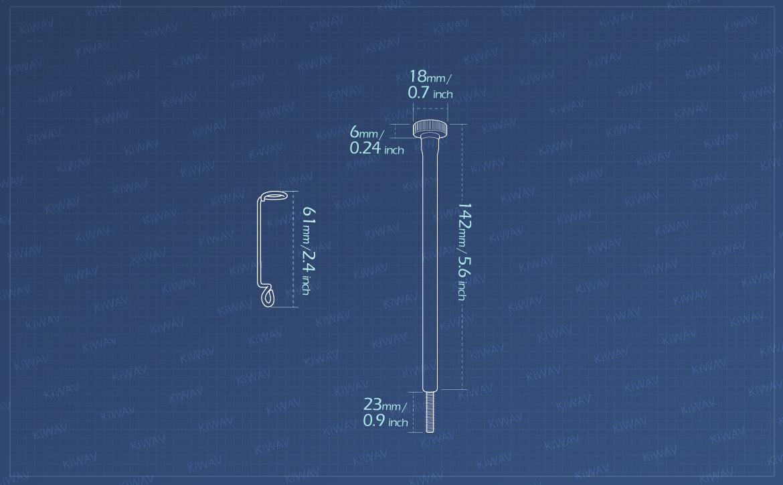 KiWAV Measurement graph of idle adjustment screw for Harley Davidson motorcycles
