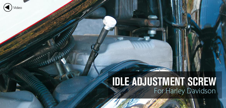 KiWAV idle adjustment screw for Harley Davidson motorcycles