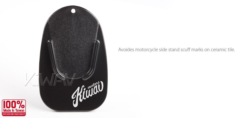 KiWAV motorcycle motorcross black kickstand pad