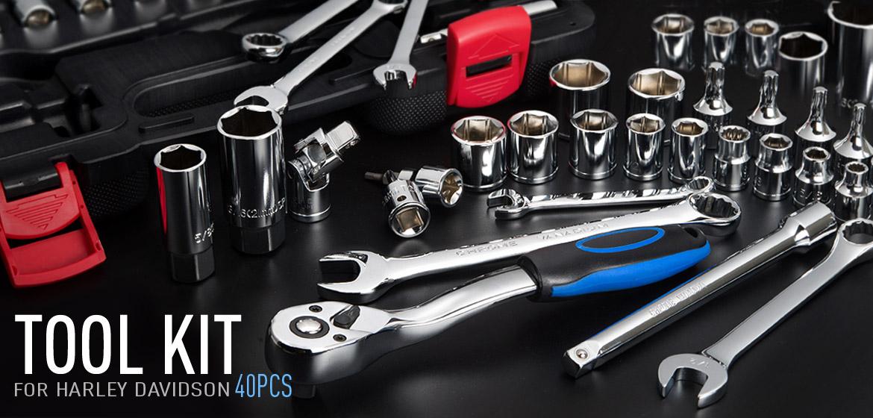 KiWAV Harley Davidson SAE maintenance Tool kits 3/8-drive 40PCs