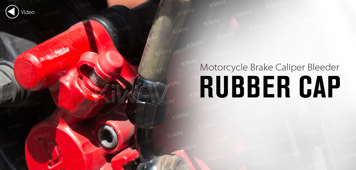 KiWAV motorcycle brake caliper bleeder rubber cap red