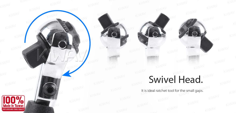 Kiwav 3 8 Quot Dr Mini Ratchet Rotating Head T Handle Regular