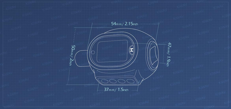 KiWAV Measurement graph of digital torque adapter for 1/2 inch drive