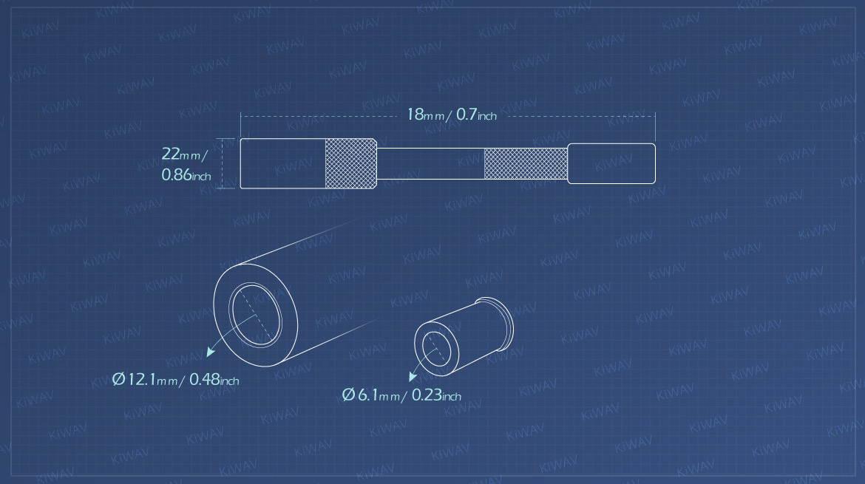 KiWAV Measurement graph of valve cotter removal install tool