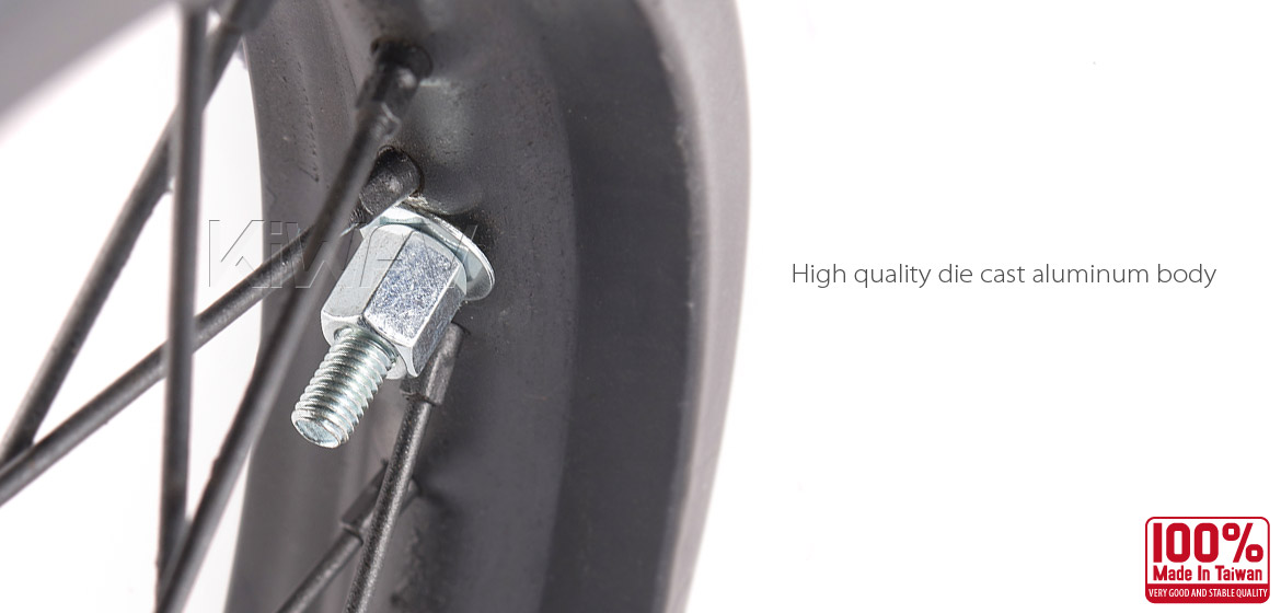 KiWAV Motorcycle Dirt Bike Rim Alloy Lock 1.4 inch and 1.6 inch with silver security bolt