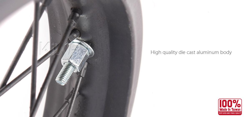 KiWAV Motorcycle Dirt Bike Rim Alloy Lock 2.15 inch with silver security bolt