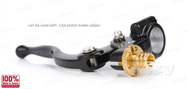KiWAV Vintage hand control with mechanical clutch & hydraulic brake for 1 inch handlebar black w/chrome switches
