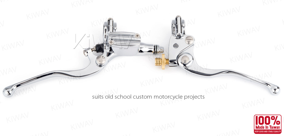 KiWAV Vintage hand control with mechanical clutch & hydraulic brake for 1 inch handlebar chrome