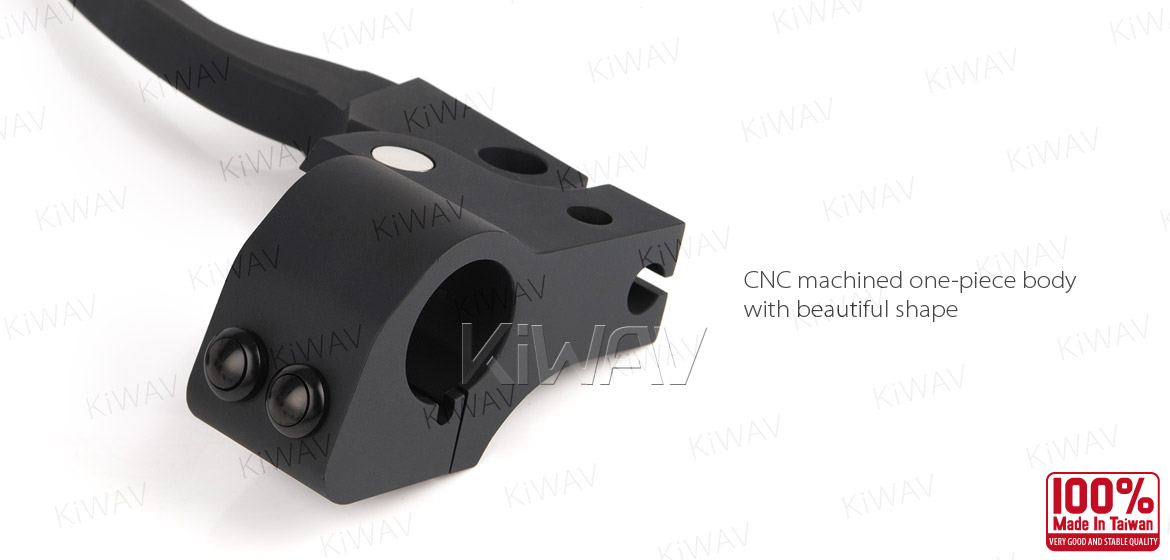 KiWAV Cable and Hydraulic Master Cylinder for dual-disc 5/8 bore with switch housing kit black