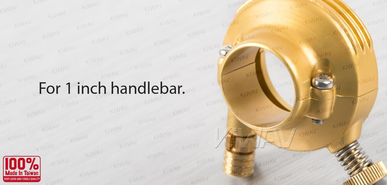 KiWAV Vintage single cable throttle housing for 1 inch handlebar gold