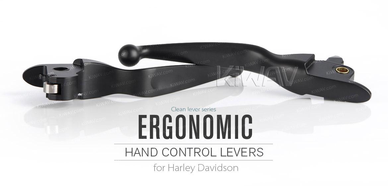 KiWAV brake clutch lever black harley davidson 2015~2014 touring CVO
