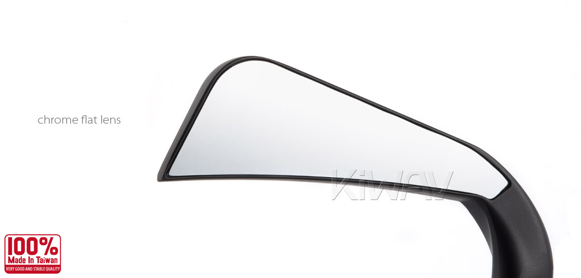 KiWAV motorcycle mirrors AxeLED black harley