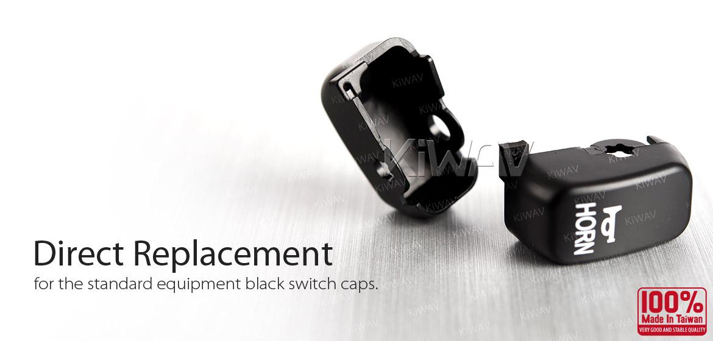 KiWAV switch caps black 6 pcs black for harley davidson 96up XL,XR Dyna FLHR
