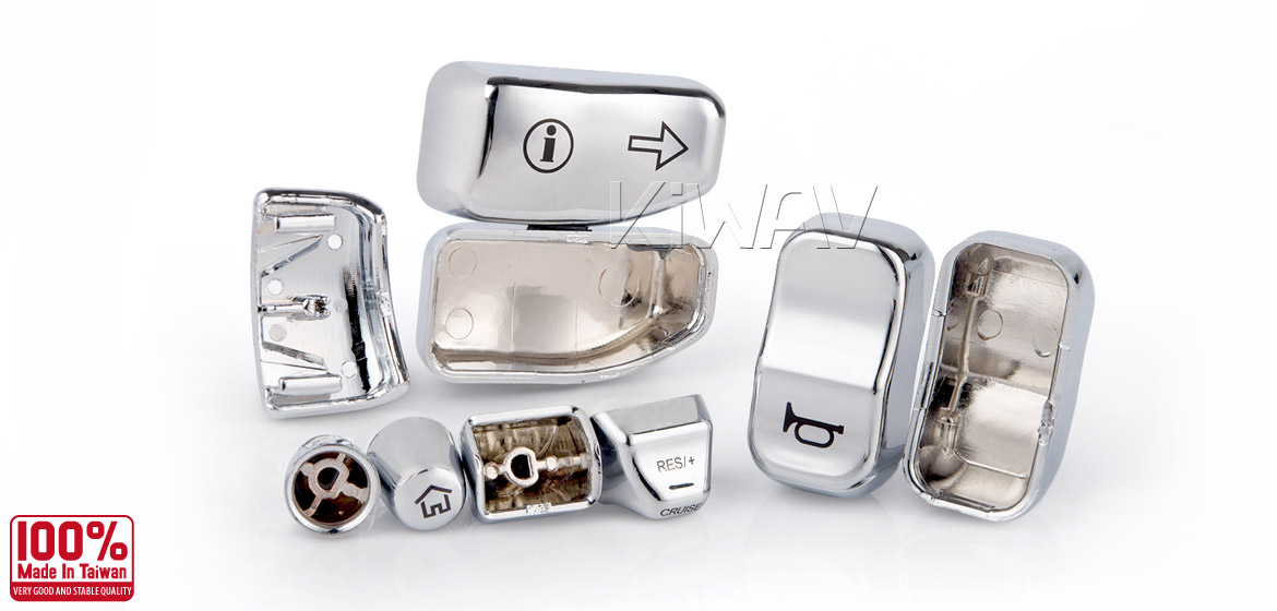 KiWAV - switch housing caps 11 pcs chrome for harley davidson Touring and CVO models 14~15
