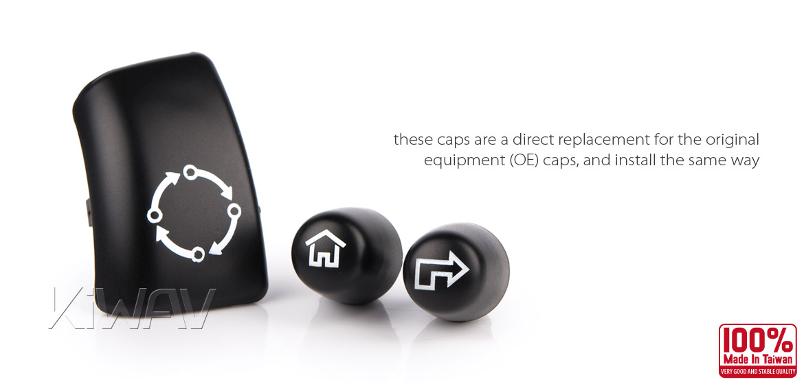 KiWAV - switch housing caps 11 pcs black for harley davidson Touring and CVO models 14~15
