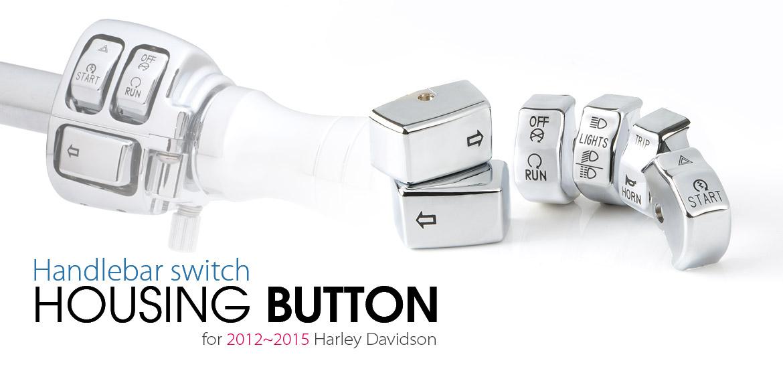 KiWAV - switch housing caps chrome for harley davidson 2015~2012 sportster dyna softail