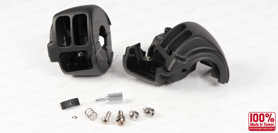 Handlebar switch housing for Harley Davidson black