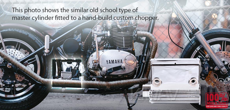 KiWAV Harley rear brake Kelsey style master cylinder 3/4 inch