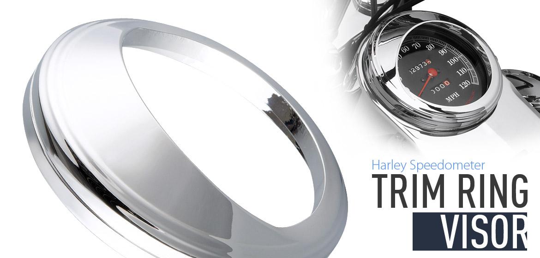 Chrome Speedometer Visor Ring fits Harley-Davidson