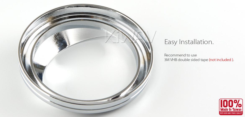 "VAWiK chrome 5/"" Odometer gauge cover fits HD /'01-/'06 Softail Standard EFI FXSTI"
