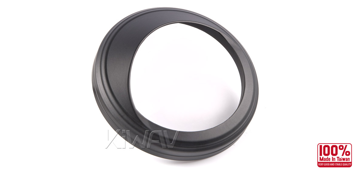 KiWAV Speedometer Trim Ring Visor cover aluminum black plated for 4 1/2
