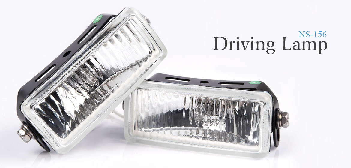 KiWAV Rectangular driving lamp NS-156 automotive auxiliary lighting with H3 bulb