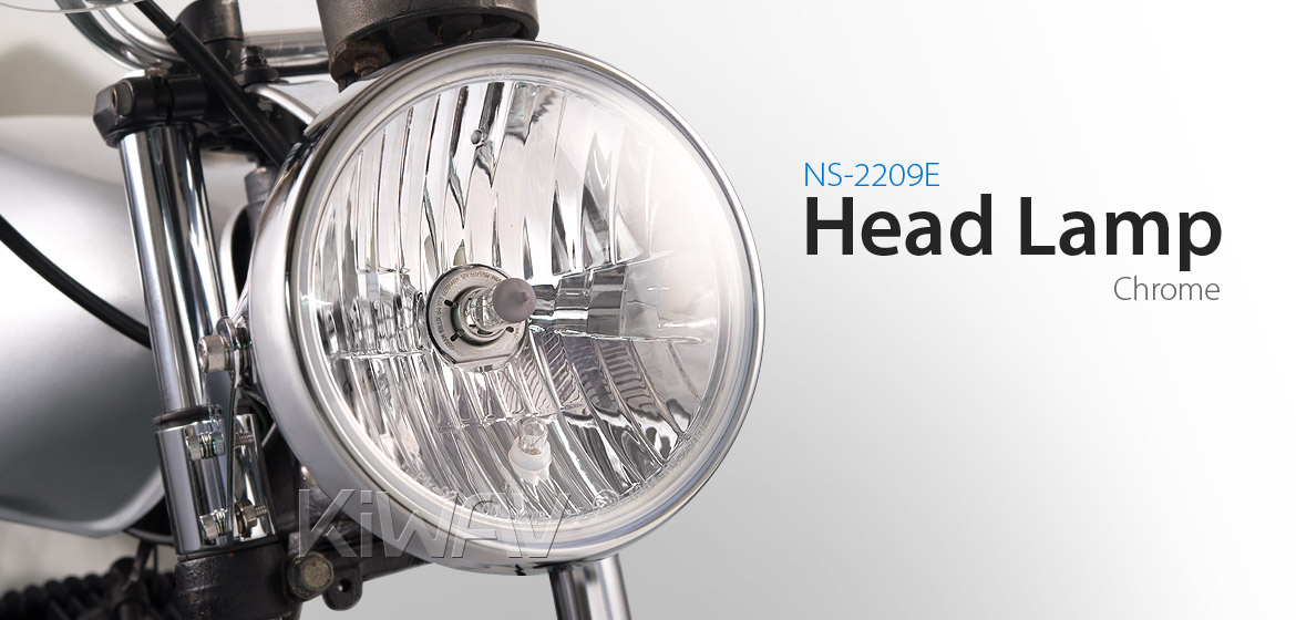 7 inch Headlamp with PC Lens NS-2209E chrome