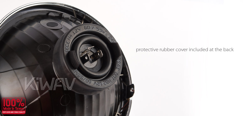 7 inch Headlamp with PC Lens NS-2209E chrome