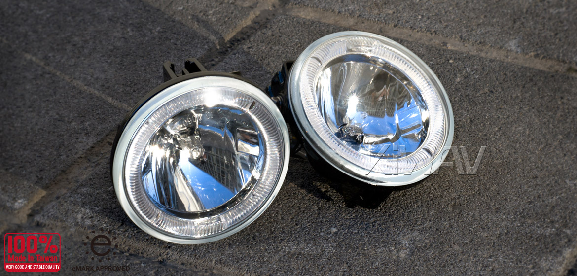 Sirius Ns34 Pair 4 Quot Halogen H3 12v Driving Lights W Led