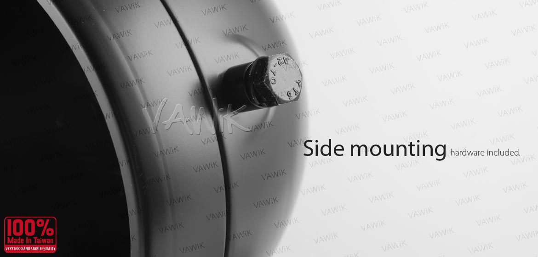 KiWAV 5-3/4 inch side mount motorcycle headlight bucket black