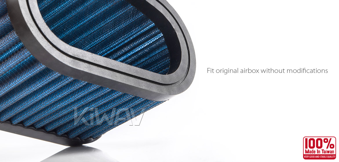 KiWAV Magazi Air Filter for Buell M2 Cyclone 97-02 M2 Cyclone LOW 01 S1 Lighting 96-02
