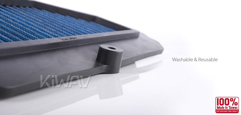 KiWAV Magazi Air Filter for Kawasaki Ninja Monster Energy 09-10, Ninja 09-13