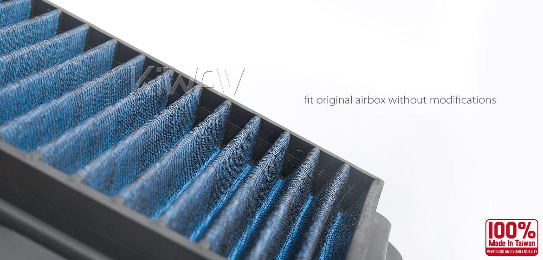 KiWAV Magazi Air Filter for Suzuki SV1000 03-04, SV1000S 03-07, SV650S 03-09, SV650 03-09