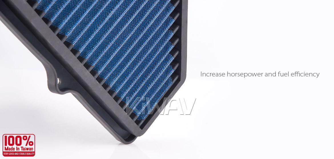 KiWAV Magazi Air Filter for Suzuki GSXR750 04-05, GSXR600 04-05