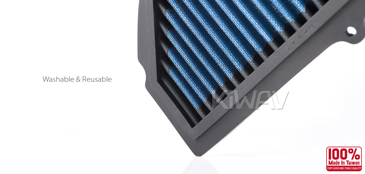 KiWAV Magazi Air Filter for Suzuki GSXR1000 09-13