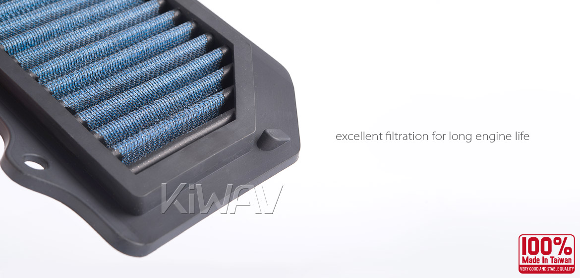 KiWAV Magazi Air Filter for Suzuki GSR750 11-13,GSR600 06-11
