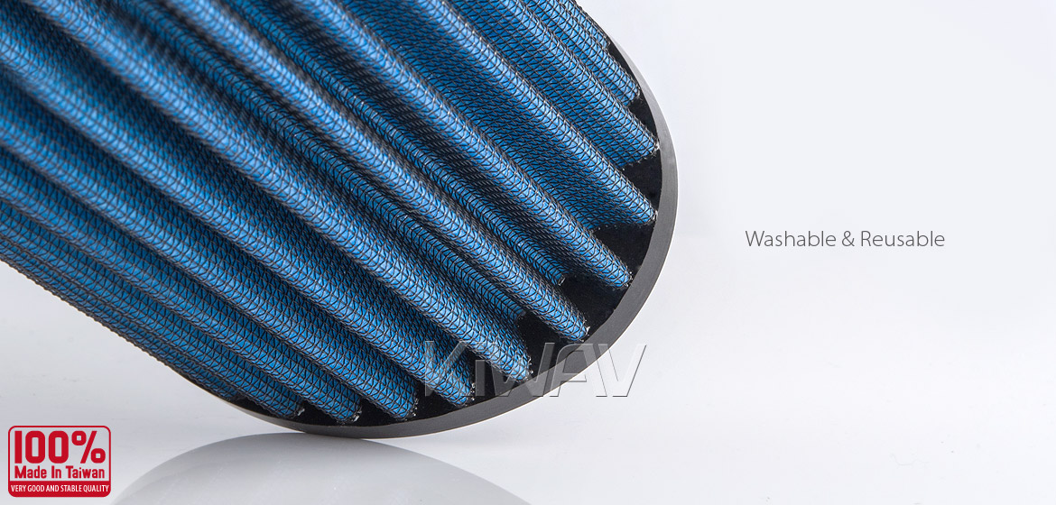KiWAV Magazi Air Filter for Triumph Bonneville 800 01-04,Bonneville 865 07-13, Thruxton 900 04-13