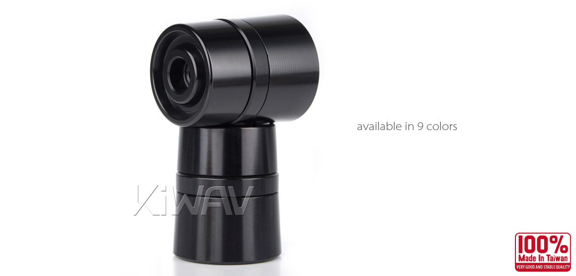 Magazi motorcycle black CNC aluminum bar ends rubber mount two-tone color style universal-03