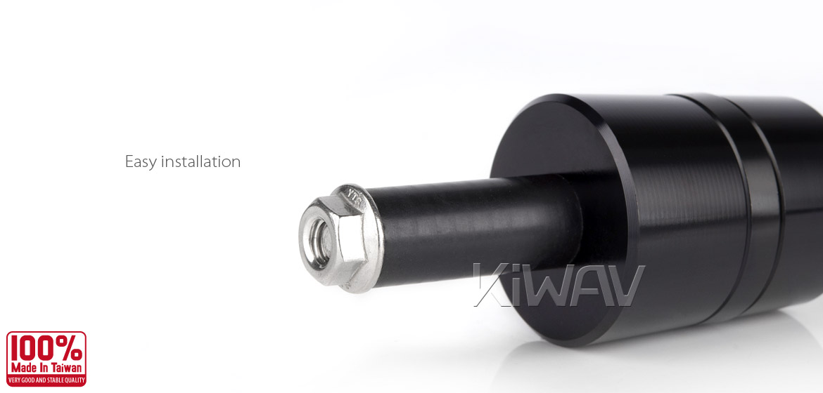 Magazi motorcycle black CNC aluminum bar ends rubber mount two-tone color style universal-05