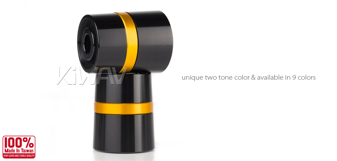 Magazi motorcycle gold CNC aluminum bar ends rubber mount two-tone color style universal-03